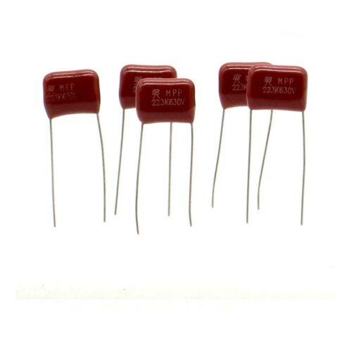 5x Condensateur CBB21 223k 22nf 630v P:10mm 222con562