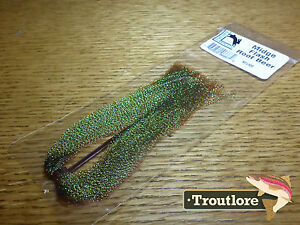 HARELINE-MIDGE-FLASH-KRYSTAL-HANK-ROOT-BEER-NEW-FLY-TYING-MATERIALS
