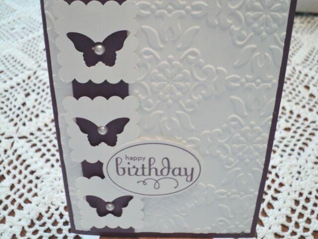 Stampin Up Happy Birthday Handmade Greeting Card Ebay