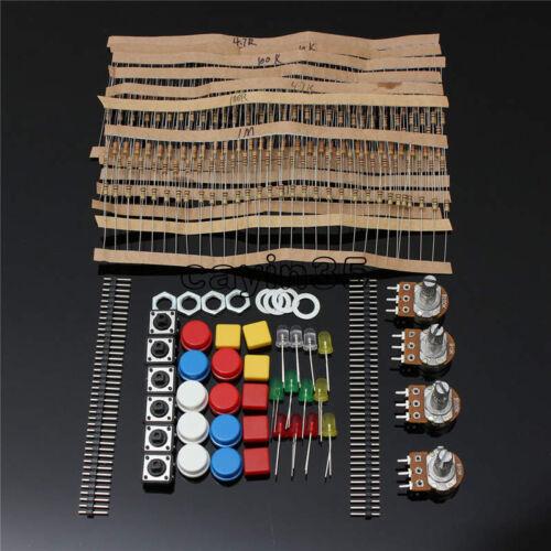 Kit de Piezas Electrónicas para componente Arduino resistencias de interruptor botón Reino Unido