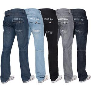 Kruze-Mens-Straight-Leg-Jeans-Regular-Fit-Denim-Pants-Big-Tall-All-Waist-Sizes