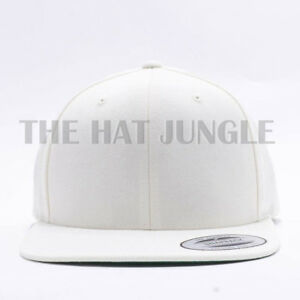 Image is loading Yupoong-Snapback-Hat-Plain-6089M-Classic-Flexfit-Baseball- d284d01c49e