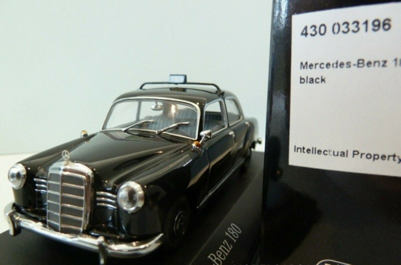 Wow extrêmement rare MERCEDES W120 180 Ponton 1953 Taxi 1 43 Minichamps - 190 220
