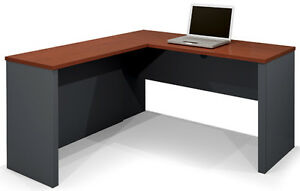 Laminate Bordeaux Amp Graphite Finish L Shape Desk