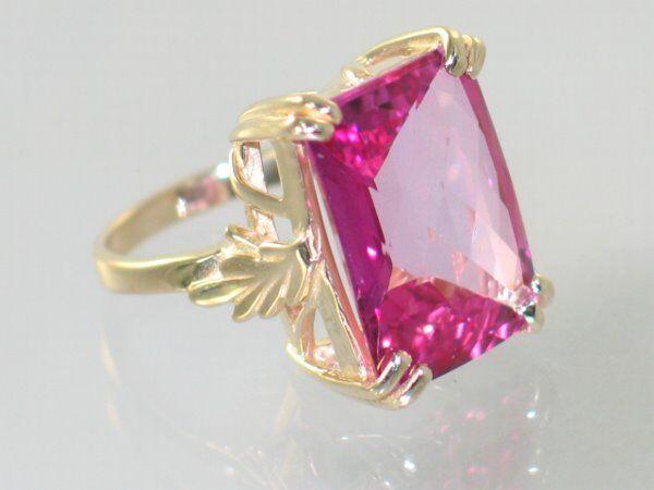 Taille 7 à 10 Pink Topaz /& Zircone cubique Argent Sterling .925 Bague