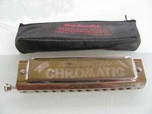 Bandmaster Slide Chromatic Three Octaves 12 Hole 48 Reeds Harmonica German Made