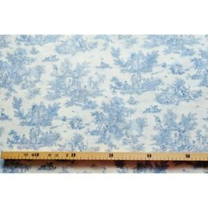 Fabric-by-the-metre-toile-de-jouy-mini-pastoral-small-blue-fd-ivory