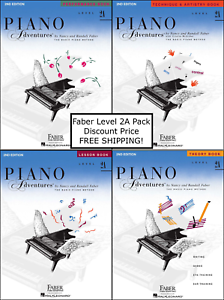 Faber-Piano-Adventures-Level-2A-Pack-Set-Lesson-Theory-Perf-Technique-NICE
