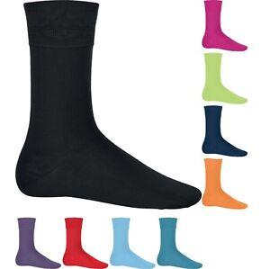Mens Kariban Calf Mercerized Cotton Rich Colour City Socks