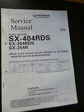 Service Manual  Pioneer Stereo Receiver SX-404RDS SX-304RDS SX-254R