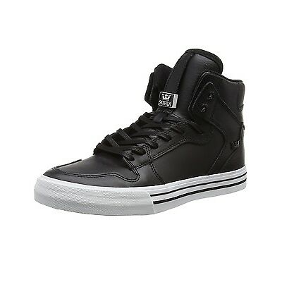 SUPRA Original Vaider Black White Sole Trainers High Top Fashion Sneaker Shoes