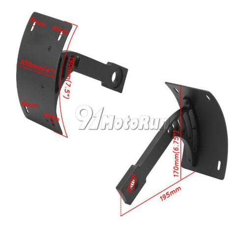 Black Side Mount License Plate Bracket Frame For Yamaha XV1700PC Warrior VMX1200