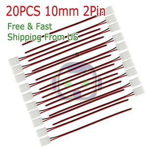 20PCS-10mm-2-Pin-Single-Connector-Adapter-cable-For-5630-5050-LED-Strip-Light