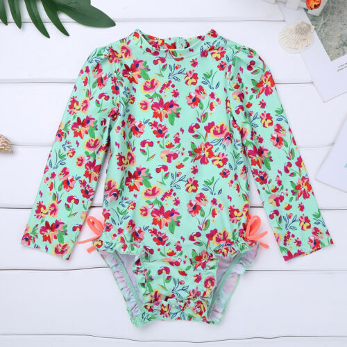 Rash Guard Shirt Swimsuit Baby Girl Bathing Swimming Tankini Beachwear UPF 50