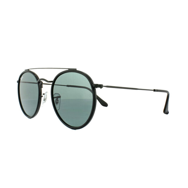 49863561d8 Sunglasses Ray-Ban Rb3647n Round Double Bridge 002 r5 51 Black Grey ...