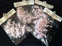 Bridal Pearl Spray Pink Lily & Beads On Wire Stems Wedding Flower Bouquet 48 Pcs