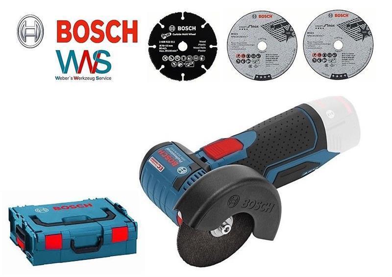 BOSCH GWS 10,8 V-EC Akku Winkelschleifer solo in der L-Boxx Neu und OVP