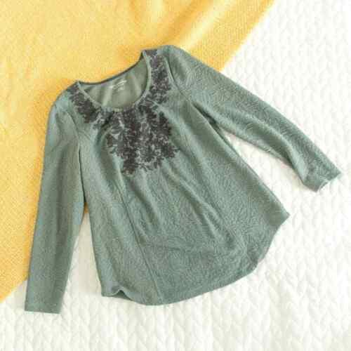 Soft Surroundings Women's Blue Green Textured Flor