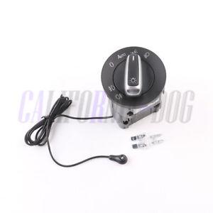 New-Chrome-AUTO-Headlight-Switch-amp-Light-Sensor-Module-Kit-For-Skoda-Fabia-07-14