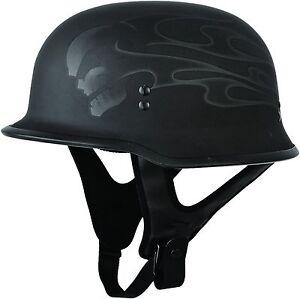 Fly Racing 9MM Ghost Skull German Style Half Helmet Motorcycle Helmet