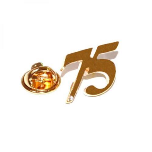 Cristal Y Oro 75 Pin De Solapa Insignia 75º setenta y cinco Cumpleaños Regalo De Cumpleaños