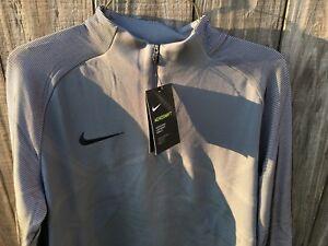 aecade04 Men's Nike Strike Aeroswift 1/4 Zip Soccer Drill Top Grey Size M-L ...