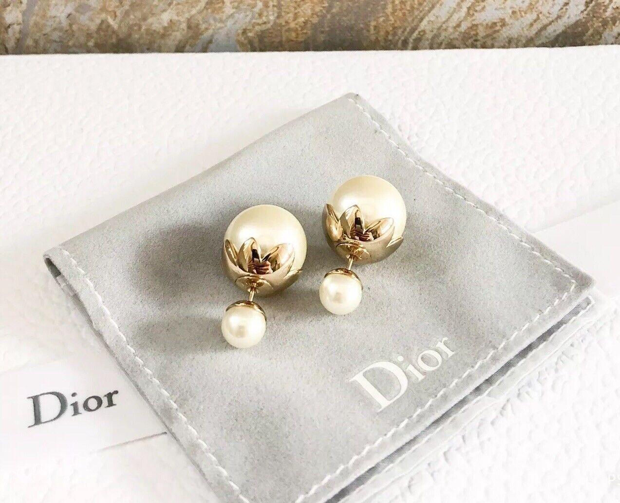 Christian Dior Mise En Dior Tribal Pearl Earrings