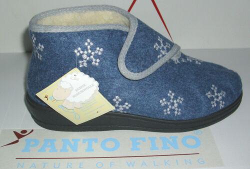 scarponcini Panto Feltro lana Fino 39 velcro Comodi e da Pantofole casa Stivale in 36 Pnk0wO