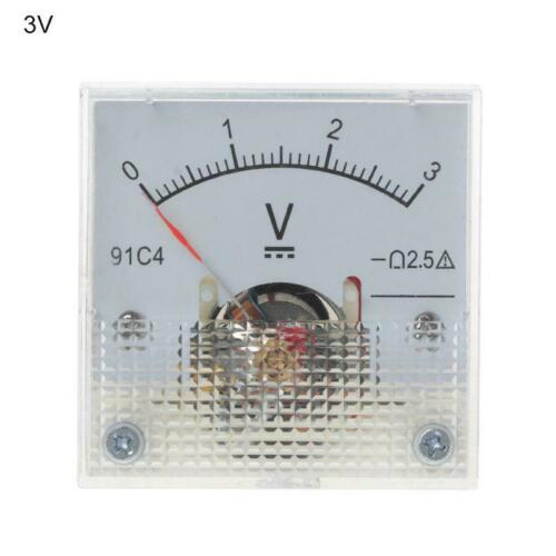 91C4 DC Voltmeter Analog Panel Voltage Meter Mechanical Pointer Type 50//150//250V