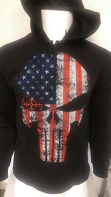 Police USA Flag thin blue line tactical laced hoodie sweat shirt Law enforcement
