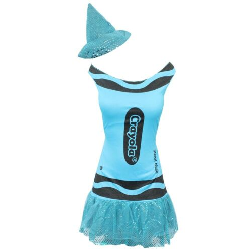 LADIES CRAYOLA CRAYON COSTUME WOMENS WORLD BOOK DAY OUTFIT OFFICIAL FANCY DRESS