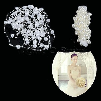 1M/5M Acrylic Pearl Bead Chain Line Garland Rope Wedding Party Decoration DIY
