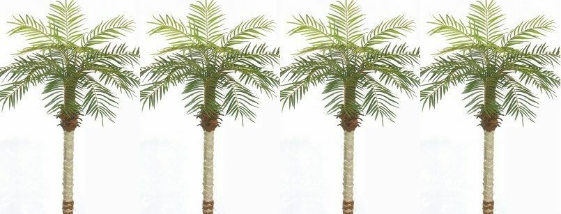4 ARTIFICIAL 5' PHOENIX PALM TREE PLANT SILK ARRANGEMENT DATE POOL PATIO TOPIARY