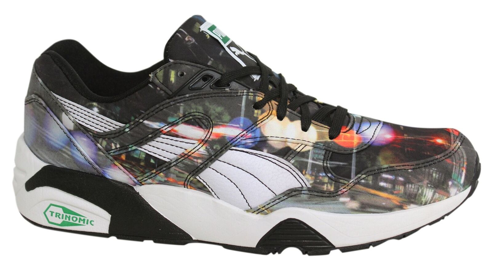 Puma R698 New York City Photoreal Lace Up Mens Trainers 359932 01 M12