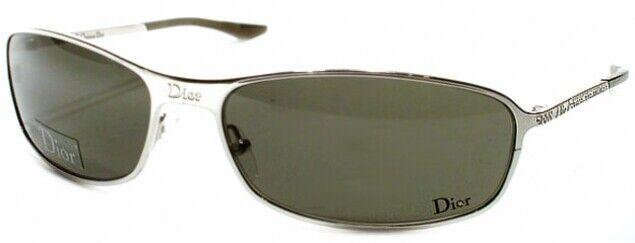 CHRISTIAN DIOR YB7M8 HARD Dior 2 Silver Frame Gray Lens Rhinestone Sunglasses