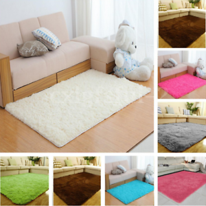 Image Is Loading Square Rug Anti Skid Shaggy Area Dining