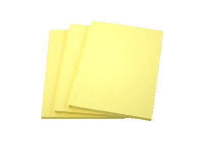 Notizblöcke Notizblock DIN A6 sonnengelb á 50 Bl verschiedene Mengen wählbar