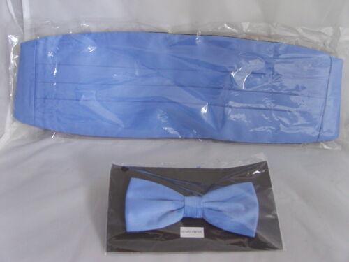 En polyester bleu clair noeud papillon et cummerbund set /> en 60 couleurs /> P/&P 2UK /> 1ère classe