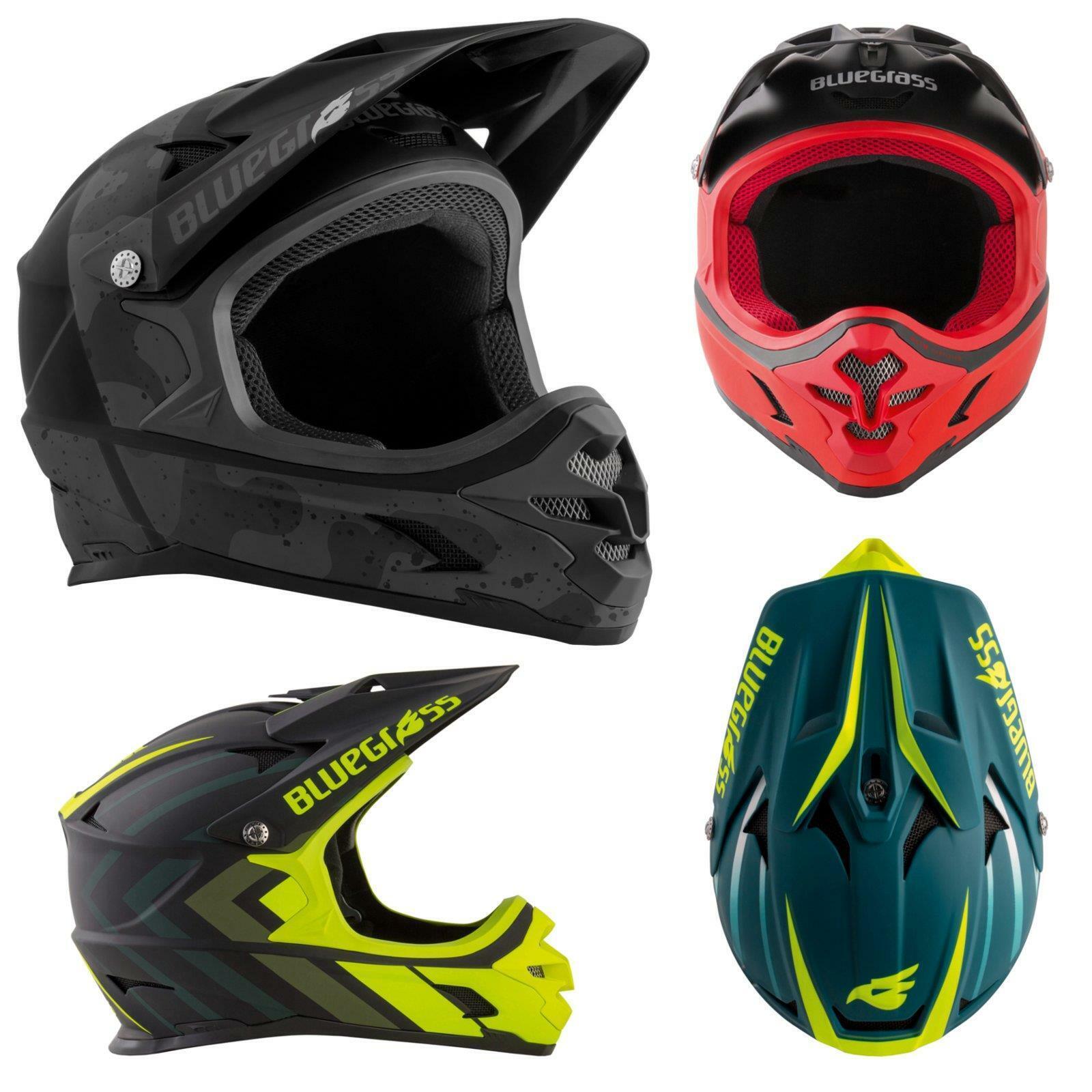 azulgrass Intox casco de bicicleta mountain bike downhill freeride FullFace MX MTB FR