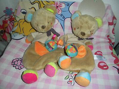 2 X Orso Pupazzetto Bimbi (nuovo) Nicotoy Simba Toys-mostra Il Titolo Originale
