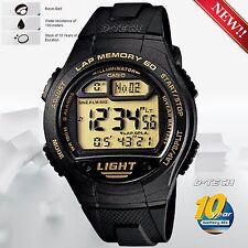 Casio W734-9AV Men Sport Digital Watch 100M WR LED Time & Distance Calculation