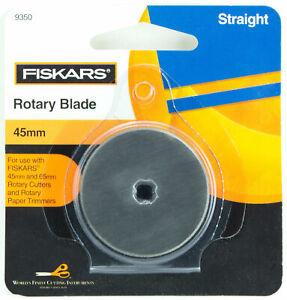 Fiskars-45mm-Straight-Rotary-Blade-Paper-Fabric-Felt-Ribbon-9350