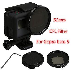 52mm-CPL-Circular-Polarizador-Filtro-Tapa-de-objetivo-anillo-adaptador