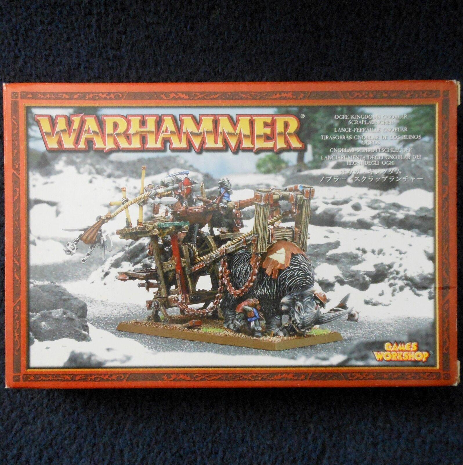 2005 ORCO Regni GNOBLAR scraplauncher WARHAMMER Esercito CITTADELLA Goblin Grojo Nuovo di zecca con scatola