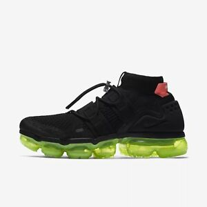 f64e568136 Image is loading Nike-Air-Vapormax-Utility-Flyknit-Volt-Black-Crimson-