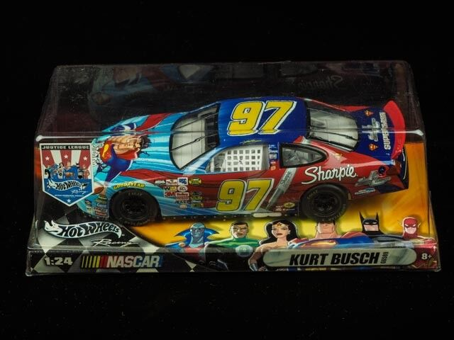 2004 Justice League Series, Kurt Busch, Nascar, Die Cast Metal Car Model.