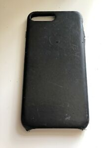 Dettagli su Apple iPhone 7/8 PLUS ORIGINAL Vera Pelle Apple Custodia Cover Nero- mostra il titolo originale