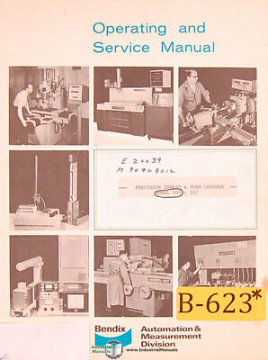 Carbide Tool Grinder Excello 46 Install parts and Operations Manual