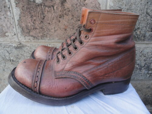 Men's Vintage Rustic Brown Leather Circa 1940's Ca