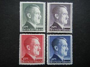 Germany Nazi 1942 1944 Stamps MNH Adolf Hitler WWII Third Reich Deutschland Germ